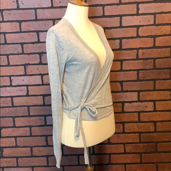 Lovers + Friends Tops - Lovers and Friends gray wrap